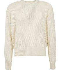 ami alexandre mattiussi knitted woven sweater