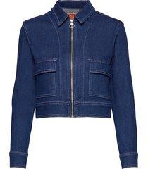 denim cropped jacket jeansjacka denimjacka blå superdry