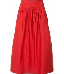 atlantique ascoli flared skirt - white