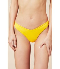 calzedonia indonesia high-leg brazilian bikini bottoms woman yellow size s/m