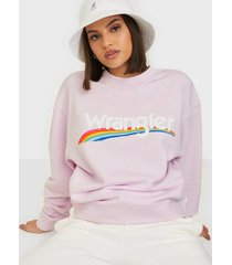 wrangler high rib retro sweat lilac ice sweatshirts