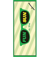 premium high performance large beach pool towel with pocket fun in the sun, green by minxny bedding