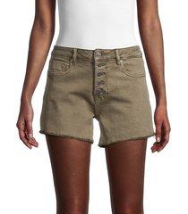 vigoss women's ace high-rise denim shorts - olive - size 27 (4)