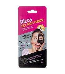 máscara facial ricca preta para limpeza de pele 1,2,3, adeus cravos! único
