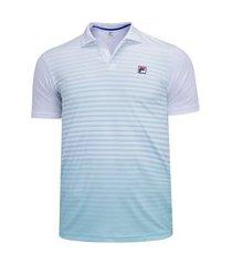camisa polo com proteção solar uv fila aus player - masculina