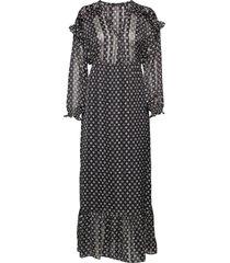 sheer feminine maxi dress with allover print knälång klänning multi/mönstrad scotch & soda