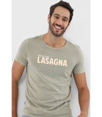camiseta sergio k lettering verde - kanui