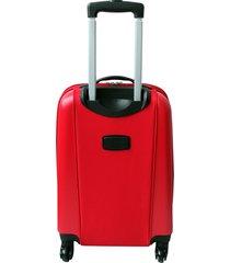 "maleta de viaje mediana híbrido 24"" roja - explora"