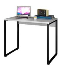 escrivaninha mesa de escritório studio industrial 90 m18 branco – mpozenato