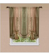 """achim home furnishings home furnishings tie up shade sage ombre- 50"""" x 63"""""""