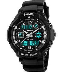 skmei 0931 (1060) reloj hombre digital analogo cuarzo - negro plata