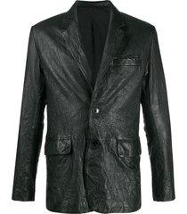 zadig & voltaire crinkle effect blazer - black