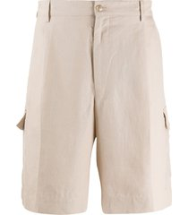 dolce & gabbana bermuda cargo shorts - neutrals