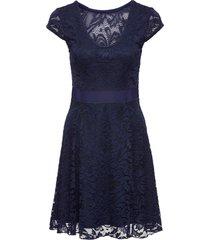 abito di jersey con pizzo (blu) - bodyflirt