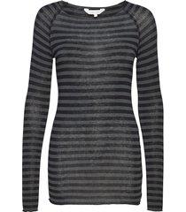 amalie medium stripe t-shirts & tops long-sleeved grijs gai+lisva