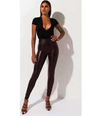 akira slim thicc faux leather leggings