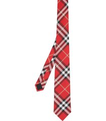 burberry classic cut vintage check silk tie - red