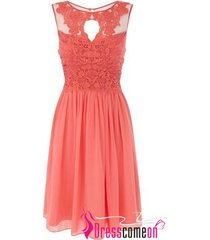 coral bridesmaid dress a line bridesmaid gowns short beach lace gown for wedding