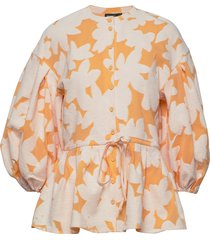 ferrah, 846 cotton jacquard blouse lange mouwen stine goya