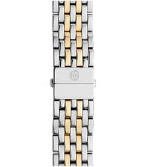 women's michele deco 18mm two-tone bracelet watchband