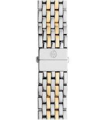 women's michele deco 18mm two-tone bracelet watchband
