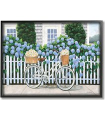 "stupell industries cape cod daisy bike framed giclee art, 11"" x 14"""