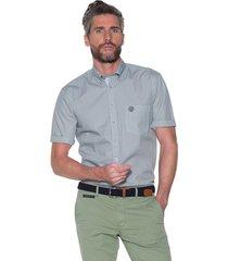 campbell casual shirt met korte mouwen licht blauw