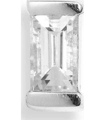 women's maria tash diamond baguette stud earring