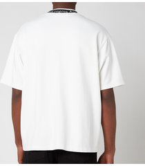 acne studios men's logo binding t-shirt - optic white - xl