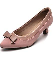 tacón medio rosa modare