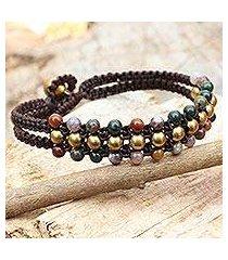jasper wristband bracelet, 'colors of joy' (thailand)