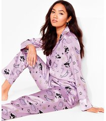 womens what planet are you on petite pajama set - lilac