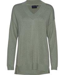 ana v-neck sweater stickad tröja grön lexington clothing