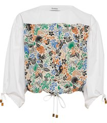 rodebjer baez blouses short-sleeved wit rodebjer