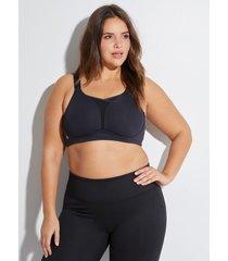 lane bryant women's livi active medium-impact cooling no-wire sport bra 48d black