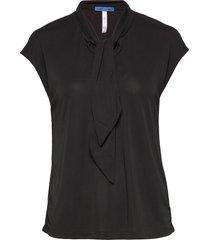vita jersey blouses short-sleeved svart whyred