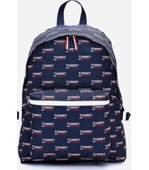 tommy hilfiger women's tommy jeans recycled backpack blue print -