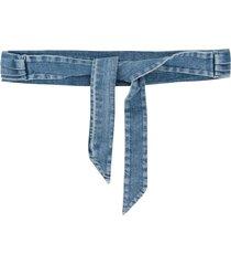philosophy di lorenzo serafini denim tie waist belt - blue