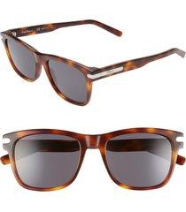 men's salvatore ferragamo capsule 54mm rectangle sunglasses - tortoise