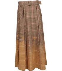 msgm beige cotton skirt