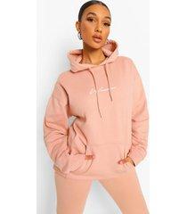oversized woman hoodie met opdruk, peach