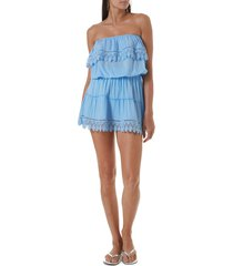 women's melissa odabash joy cover-up dress, size large - blue (nordstrom exclusive)