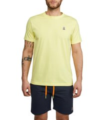 men's psycho bunny men's classic crewneck t-shirt, size 7 - yellow