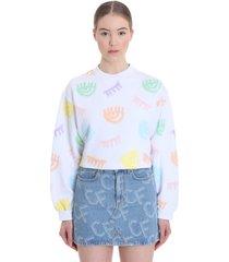 chiara ferragni sweatshirt in white cotton