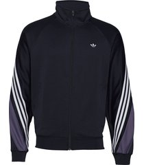 3stripe wrap tt sweat-shirt tröja blå adidas originals