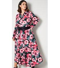 maxi-jurk sara lindholm zwart::salie::rood