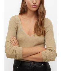 mango women's glossed effect knit sweater