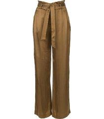 pantalon met strikceintuur garbo  groen