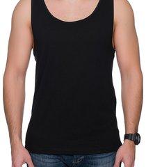 koszulka męski tank top (bez nadruku, gładka) - czarny