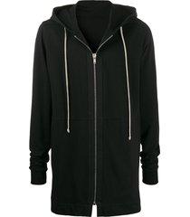 rick owens mid-length hoodie - black